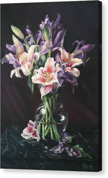 Laurette' Lillies Canvas Print by Michelle Kerr