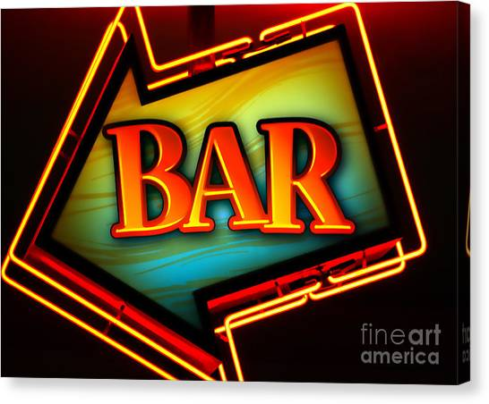 Bar Canvas Print - Laurettes Bar by Barbara Teller