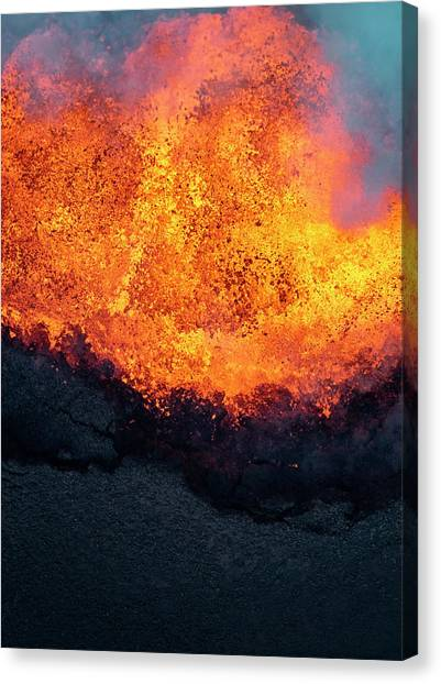 Pele Canvas Print - Lava Explosion by Christopher Johnson