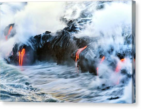 Lava Canvas Print - Lava Flow by Christopher Johnson