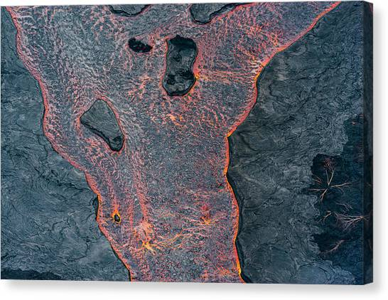 Lava Canvas Print - Lava River Texture by Christopher Johnson