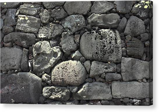 Lava Rock Wall 1 Dark Canvas Print