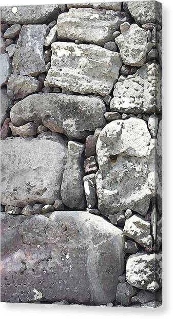 Lava Rock Wall 1 Triptych L Canvas Print