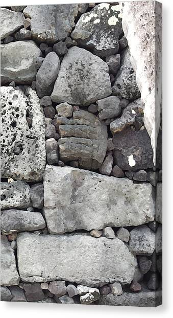 Lava Rock Wall 1 Triptych R Canvas Print