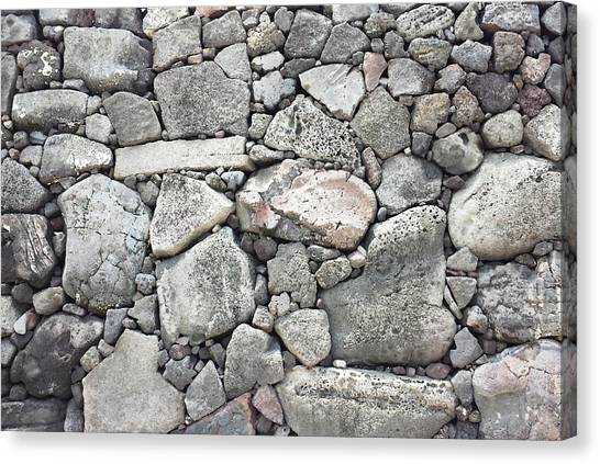 Lava Rock Wall 3 Canvas Print