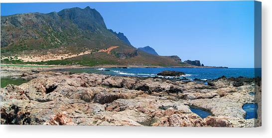 Lava Rocks Of Balos Canvas Print