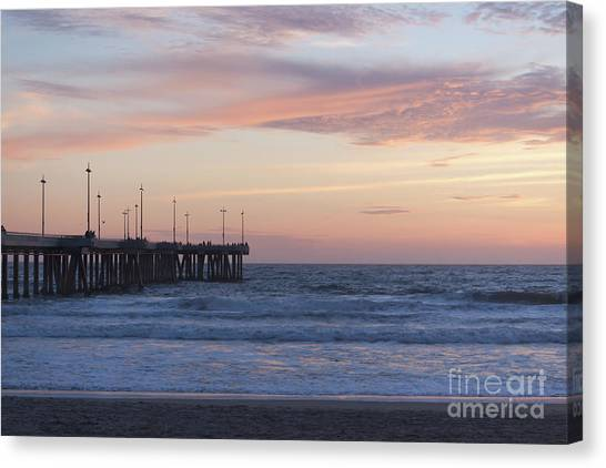 Venice Beach Canvas Print - Lavander Waters by Ana V Ramirez