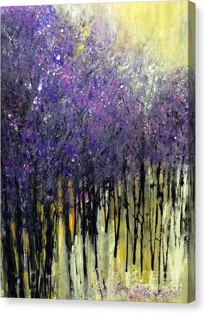 Canvas Print featuring the painting Lavender Dreams by Priti Lathia