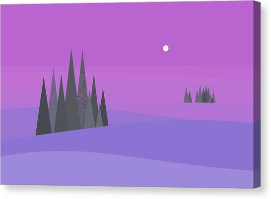 Rolling Hills Canvas Print - Lavender Fantasy by Val Arie