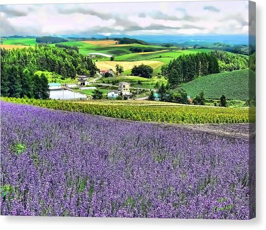 Lavender Fields Canvas Print by Kathy Tarochione