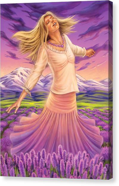 Lavender - Heal Through Joy Canvas Print