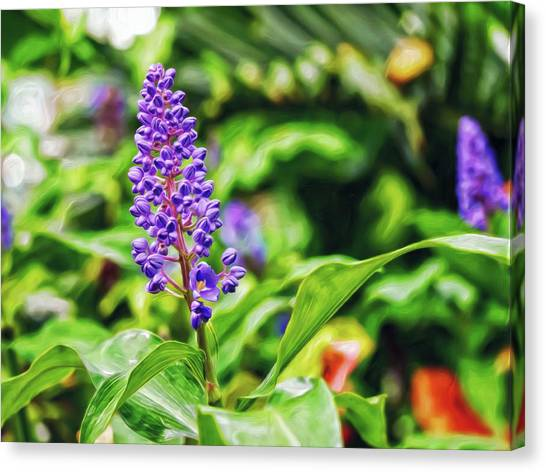 Canvas Print featuring the digital art Lavender In Love by Doctor Mehta