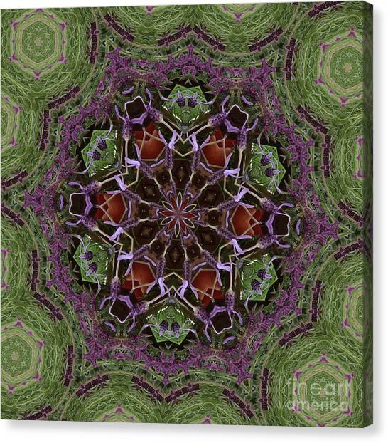 Lavender Mandala 2 Canvas Print