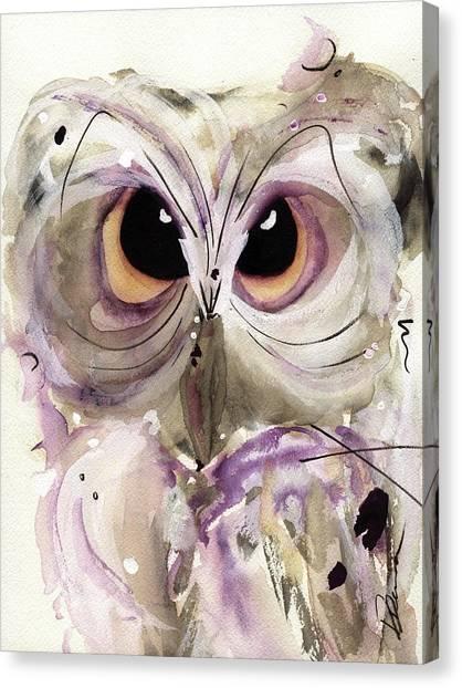 Lavender Owl Canvas Print