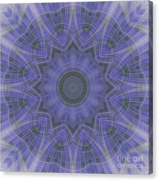 Lavender Twirl Kaleido Canvas Print