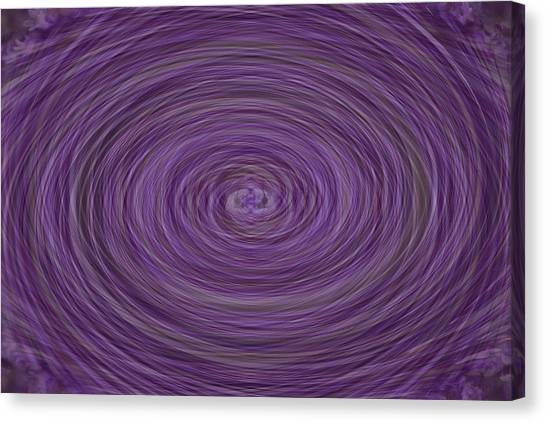 Lavender Vortex Canvas Print