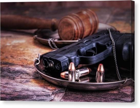 Law Canvas Print - Law Enforcement Still Life by Tom Mc Nemar