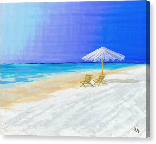 Lawn Chairs In Paradise Canvas Print