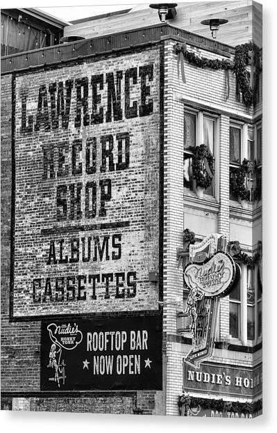 Nashville Predators Canvas Print - Lawrence Record Shop Nashville - #1 by Stephen Stookey
