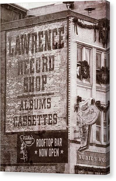 Nashville Predators Canvas Print - Lawrence Record Shop Nashville - #2 by Stephen Stookey