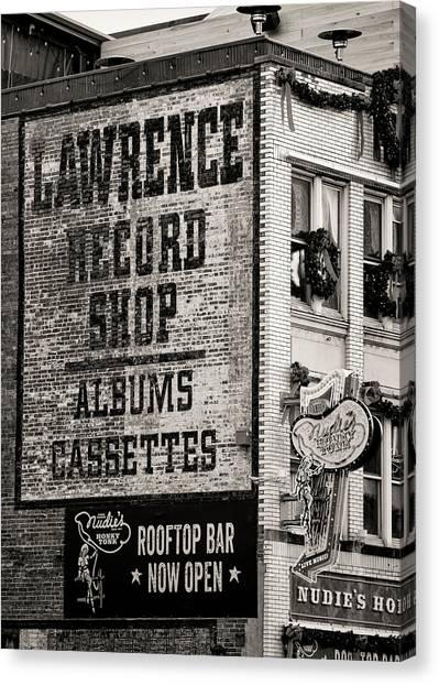 Nashville Predators Canvas Print - Lawrence Record Shop Nashville - #3 by Stephen Stookey