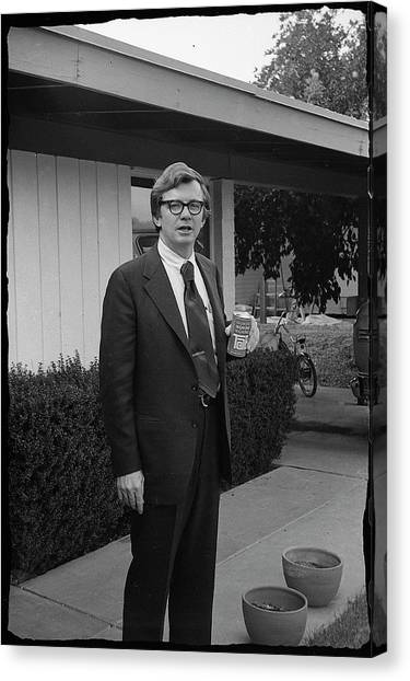 Lawyer With Can Of Tab, 1971 Canvas Print