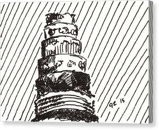 Layer Cake 1 2015 - Aceo Canvas Print