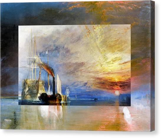 Layered 10 Turner Canvas Print