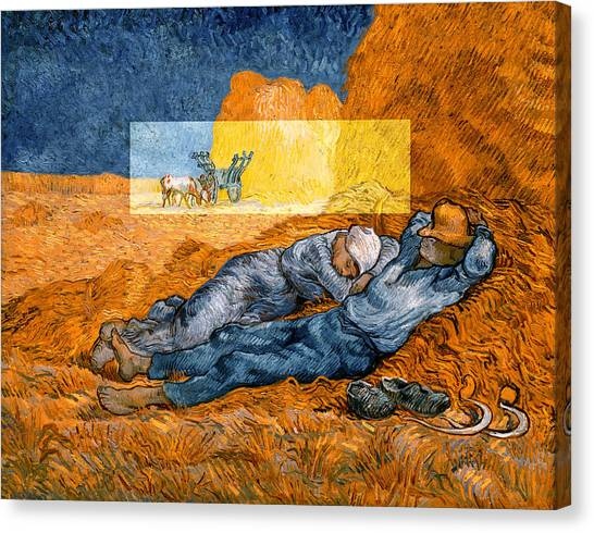 Layered 14 Van Gogh Canvas Print