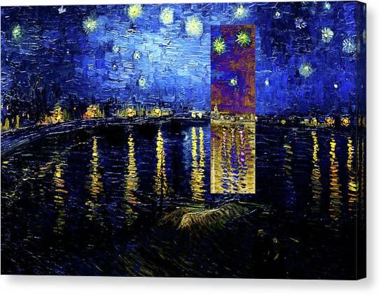 Layered 15 Van Gogh Canvas Print