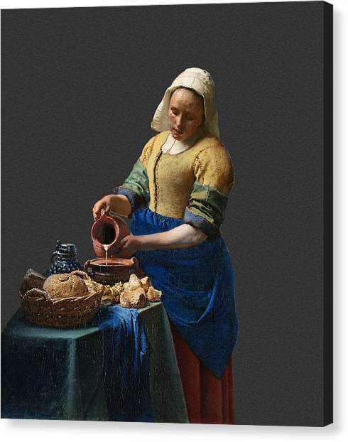 Layered 16 Vermeer Canvas Print