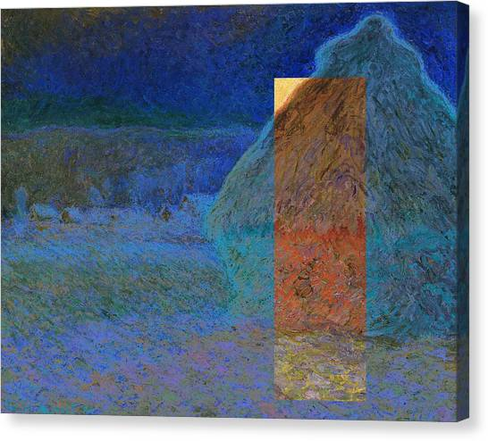 Layered 3 Monet Canvas Print