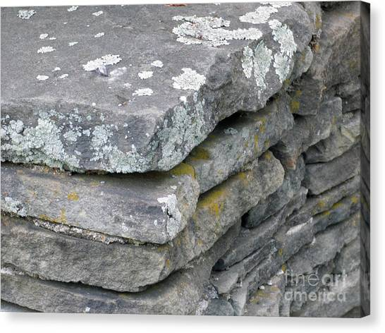 Layered Rock Wall Canvas Print