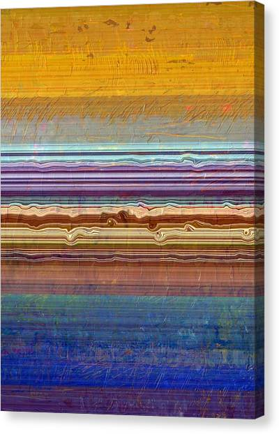 Layers With Orange And Blue Canvas Print