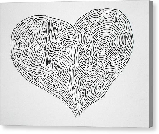 Laying Your Heart On A Line  Canvas Print