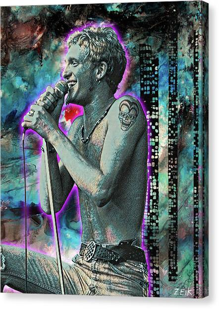 Stone Temple Pilots Canvas Print - Layne Staley - Heaven Beside You by Bobby Zeik