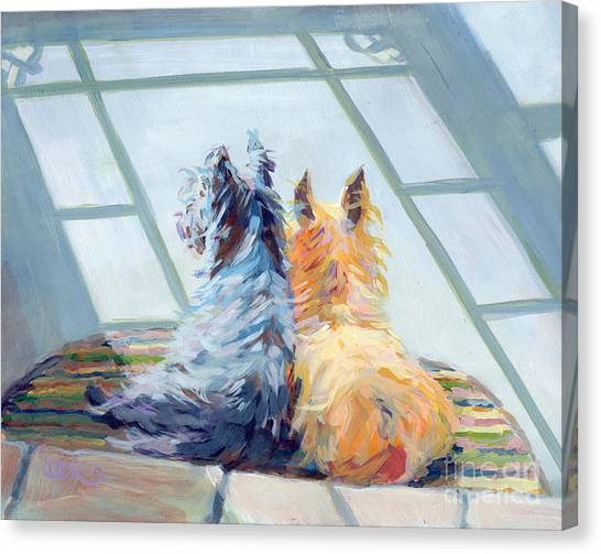 Mills Canvas Print - Lazin Around by Kimberly Santini