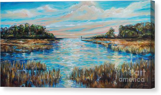 Lazy Coastal River II Canvas Print