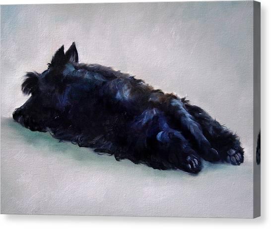 Brindle Canvas Print - Lazy Days by Mary Sparrow