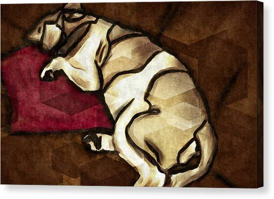 Lazy Hound Canvas Print