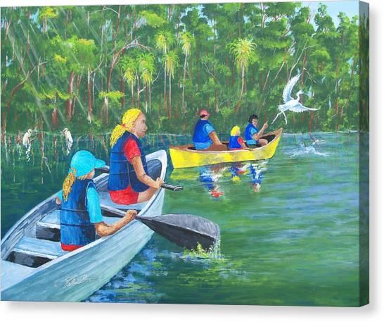 Lazy River Canvas Print by Dennis Vebert