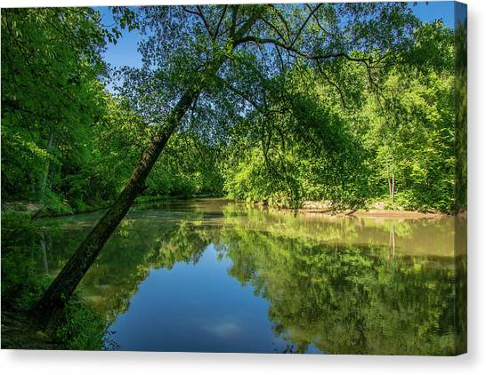 Lazy Summer Day On The River Canvas Print