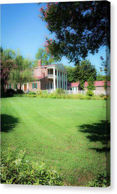 Canvas Print featuring the photograph Lazy Summer Day - The Hermitage by James L Bartlett