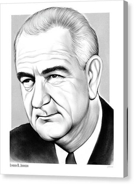 Lyndon Johnson Canvas Print - LBJ by Greg Joens