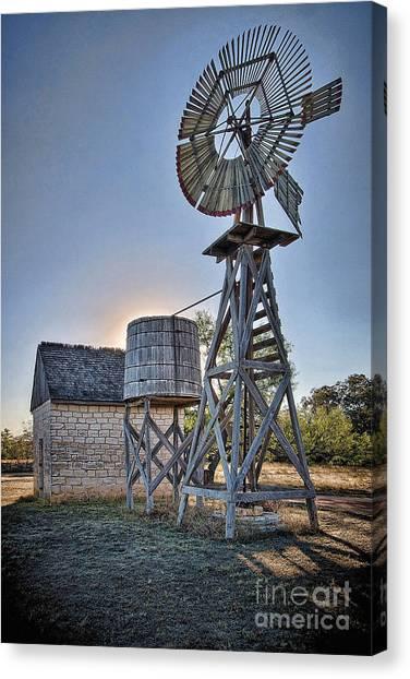 Lbj Homestead Windmill Canvas Print