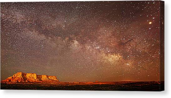 Lchee Rock Milky Way Panorama Canvas Print