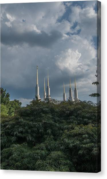 Lds Storm Clouds Canvas Print