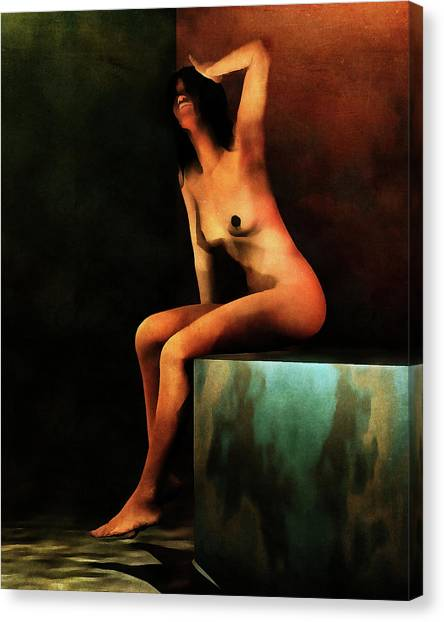 Canvas Print featuring the painting Le Bain Du Matin by Jan Keteleer