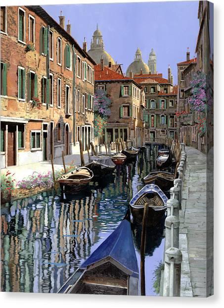 Pilgrims Canvas Print - Le Barche Sul Canale by Guido Borelli