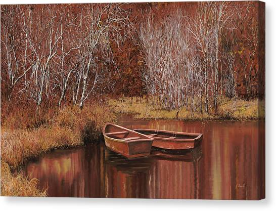 Wetlands Canvas Print - Le Barche Sullo Stagno by Guido Borelli
